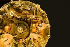 Primo piano meccanico dell'orologio Fotografia Stock