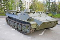 Primo piano militare russo dell'attrezzatura Nella città Tempo pacifico Fotografia Stock
