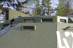 Primo piano militare russo dell'attrezzatura Nella città Tempo pacifico Dispositivi di sorveglianza Fotografie Stock Libere da Diritti