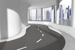 Primo piano moderno della strada della strada principale del ponte del mare rappresentazione 3d Fotografia Stock Libera da Diritti