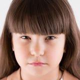Primo piano moro della bambina Immagini Stock Libere da Diritti