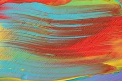 Primo piano multicolore dipinto acrilico astratto Fotografie Stock