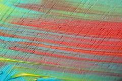 Primo piano multicolore dipinto acrilico astratto Immagine Stock Libera da Diritti