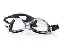 Primo piano nero degli occhiali di protezione Immagini Stock Libere da Diritti
