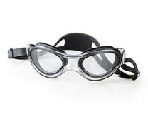 Primo piano nero degli occhiali di protezione Fotografia Stock