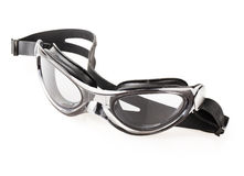 Primo piano nero degli occhiali di protezione Immagine Stock