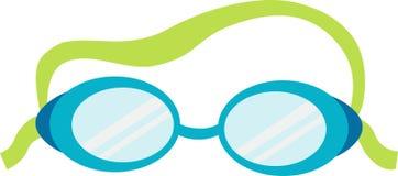 Primo piano nero degli occhiali di protezione Immagine Stock Libera da Diritti