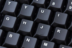 Primo piano nero della tastiera Fotografia Stock Libera da Diritti