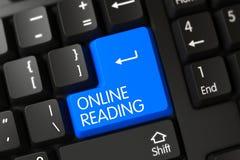 Primo piano online della lettura della tastiera 3d Fotografie Stock Libere da Diritti