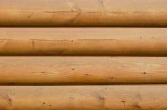 Primo piano orizzontale di esterno di legno della cabina Immagine Stock