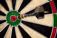 Primo piano perfetto di colpo del Bullseye Fotografie Stock
