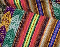 Primo piano peruviano del textil Fotografie Stock