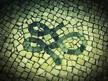 Mosaico della pavimentazione Fotografia Stock Libera da Diritti
