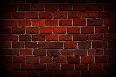 Primo piano rosso del muro di mattoni, struttura, fondo, lerciume fotografia stock