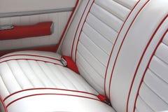 Primo piano rosso dell'automobile dell'annata Fotografia Stock Libera da Diritti