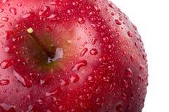 Primo piano rosso della mela Fotografia Stock