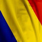 Primo piano rumeno della bandierina Fotografie Stock Libere da Diritti