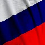 Primo piano russo della bandierina Fotografie Stock