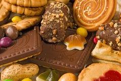 Primo piano saporito di molti biscotti Immagine Stock Libera da Diritti