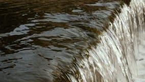 Primo piano scorrente dell'acqua di fiume stock footage