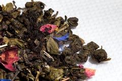 Primo piano secco del tè Fotografia Stock