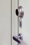Primo piano sicuro d'acciaio del portello Fotografie Stock