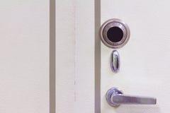 Primo piano sicuro d'acciaio del portello Fotografia Stock Libera da Diritti
