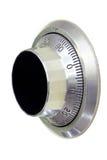Primo piano sicuro della serratura di manopola (includa i percorsi di residuo della potatura meccanica) Fotografia Stock Libera da Diritti