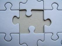 Primo piano solo di puzzle Fotografia Stock