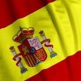 Primo piano spagnolo della bandierina Fotografia Stock