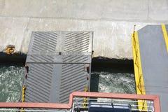 Primo piano sparato delle porte di un traghetto Fotografia Stock Libera da Diritti