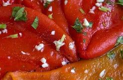 Primo piano - struttura di insalata rossa appetitosa fotografie stock