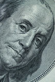 Primo piano su Benjamin Franklin Fotografie Stock