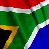 Primo piano sudafricano della bandierina Immagini Stock
