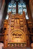 Primo piano sull'altare della cattedrale dell'anglicano di Liverpool Fotografia Stock Libera da Diritti