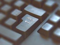 Primo piano sulla tastiera del bottone con il ` di salute del ` di parola fotografia stock