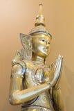 Primo piano tailandese della statua di angelo di Teppanom Fotografia Stock Libera da Diritti