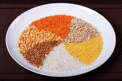Primo piano torto dei cereali Immagine Stock