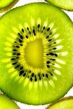 Primo piano trasparente 2 del kiwifruit fotografie stock libere da diritti