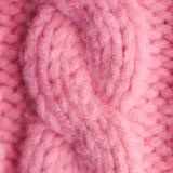 Primo piano tricottato del maglione Immagini Stock
