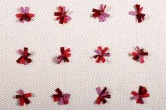 Primo piano tricottato del tappeto Immagini Stock