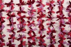 Primo piano tricottato del tappeto Fotografia Stock