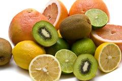 Primo piano vario della frutta Fotografie Stock