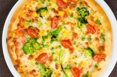 Primo piano vegetariano della pizza immagine stock libera da diritti