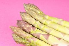 Primo piano verde dell'asparago Immagini Stock