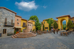 Primo piazza, Italian style building Royalty Free Stock Image