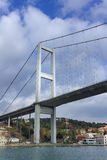 Primo ponte di Bosphorus, Costantinopoli, Turchia Fotografia Stock Libera da Diritti