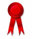 Primo posto im del nastro del premio di successo rosso di perfezione Fotografie Stock