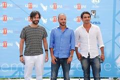 Primo Reggiani,Nicola Vaporidis e Matteo Branciamore al Giffoni Film Festival 2015 Stock Photography
