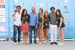 Primo Reggiani,Nicola Vaporidis e Matteo Branciamore al Giffoni Film Festival 2015 Royalty Free Stock Image